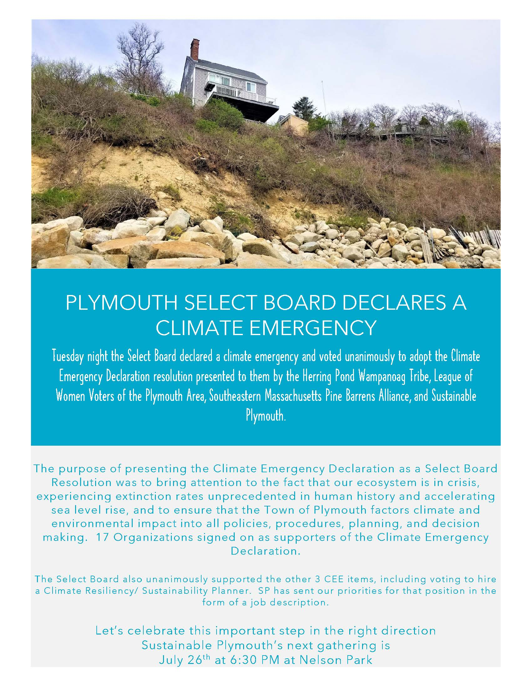 Plymouth Select Board Declares a Climate Emergency